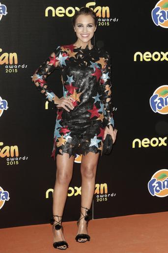 Paula Echevarria en los Neox Fan Awards 2015 con vestido de María Escoté