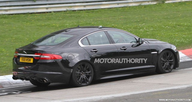 Blog about fascinating cars.: 2013 Jaguar XFR-S Spy Shots | 640 x 342 jpeg 56kB