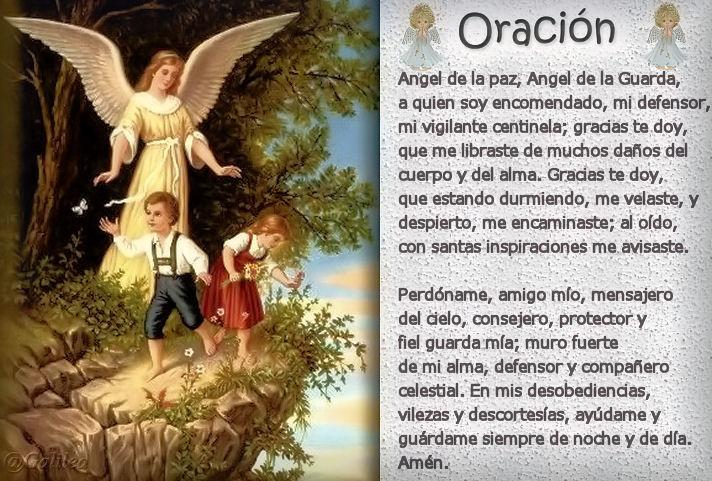 Testimonios para crecer oraci n al angel de la guarda for Guarda cosas para jardin