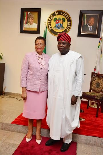 graca machel and governor of lagos state