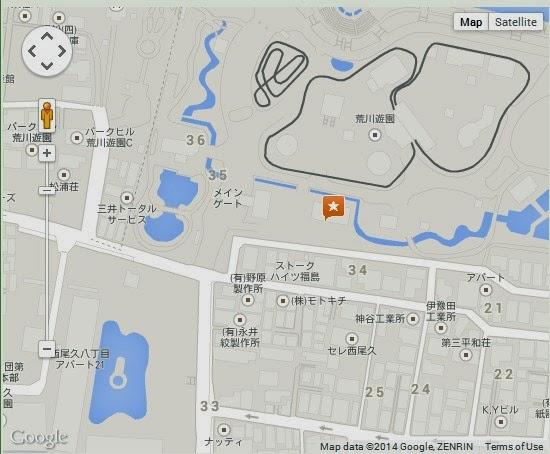 Detail Arakawa Yuen Tokyo Location Map