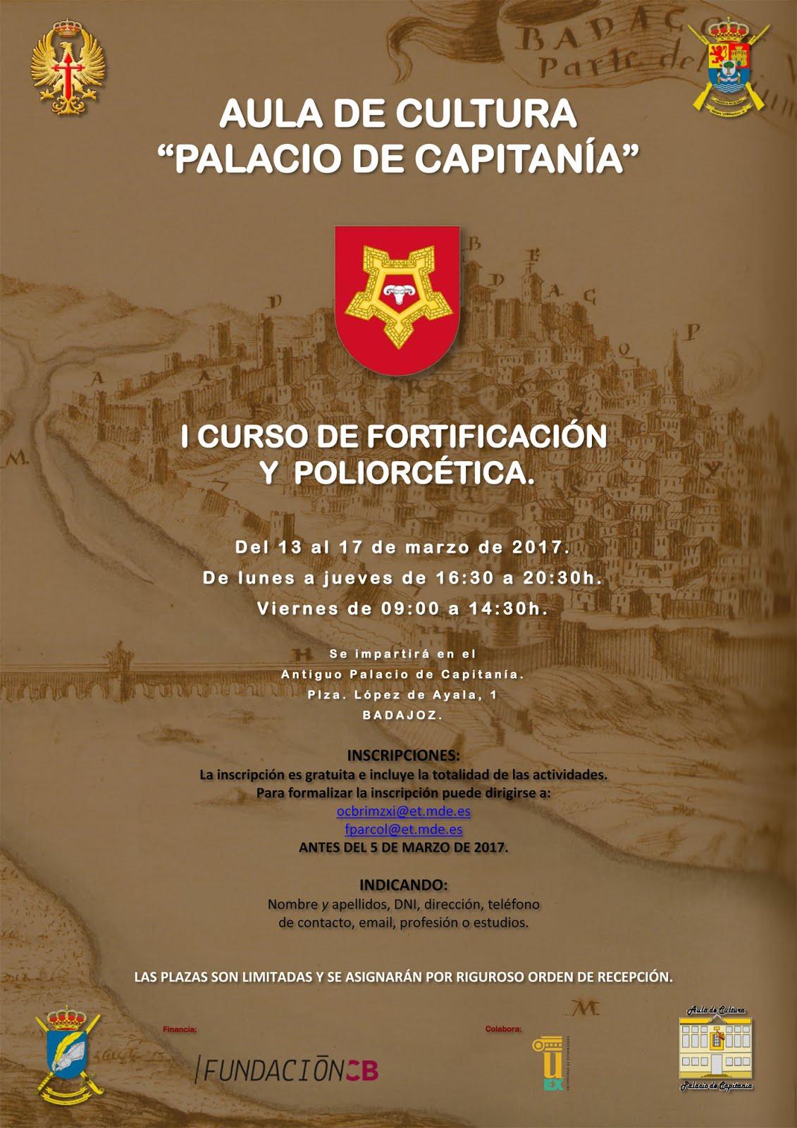CURSO DE FORTIFICACIÓN Y POLIORCÉTICA