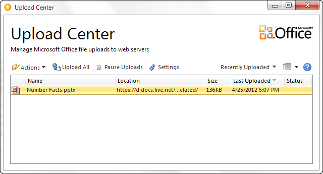 microsoft upload center