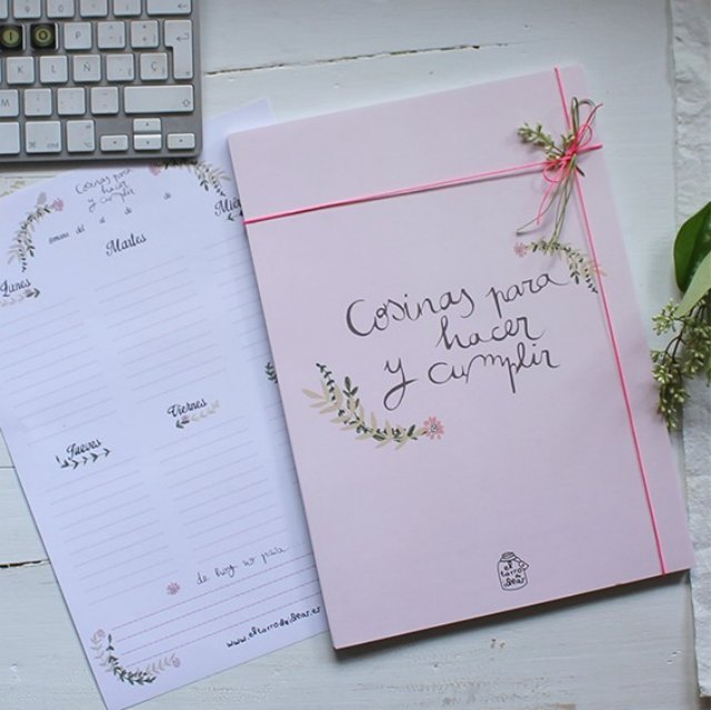 planificador semanal tarro ideas