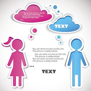 Girl Boy + Text Sticker.eps