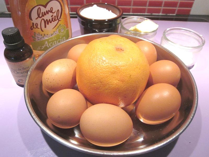 Soufflé sans gluten pamplemousse et miel