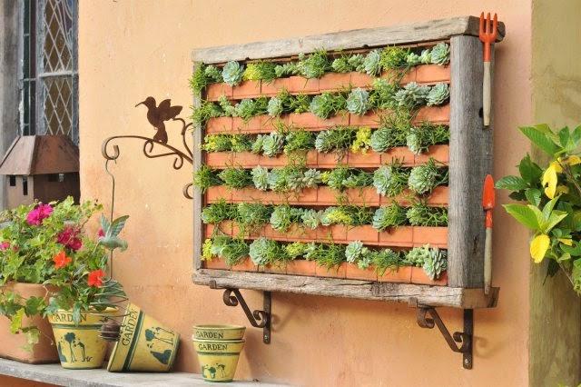 jardim vertical pallet:jardim vertical com pallets de madeira