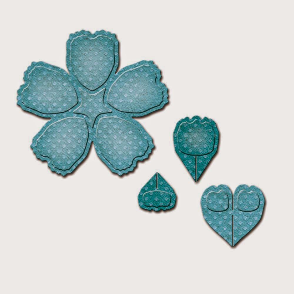 Spellbinders D-Lites - Crafty Flower 4 die