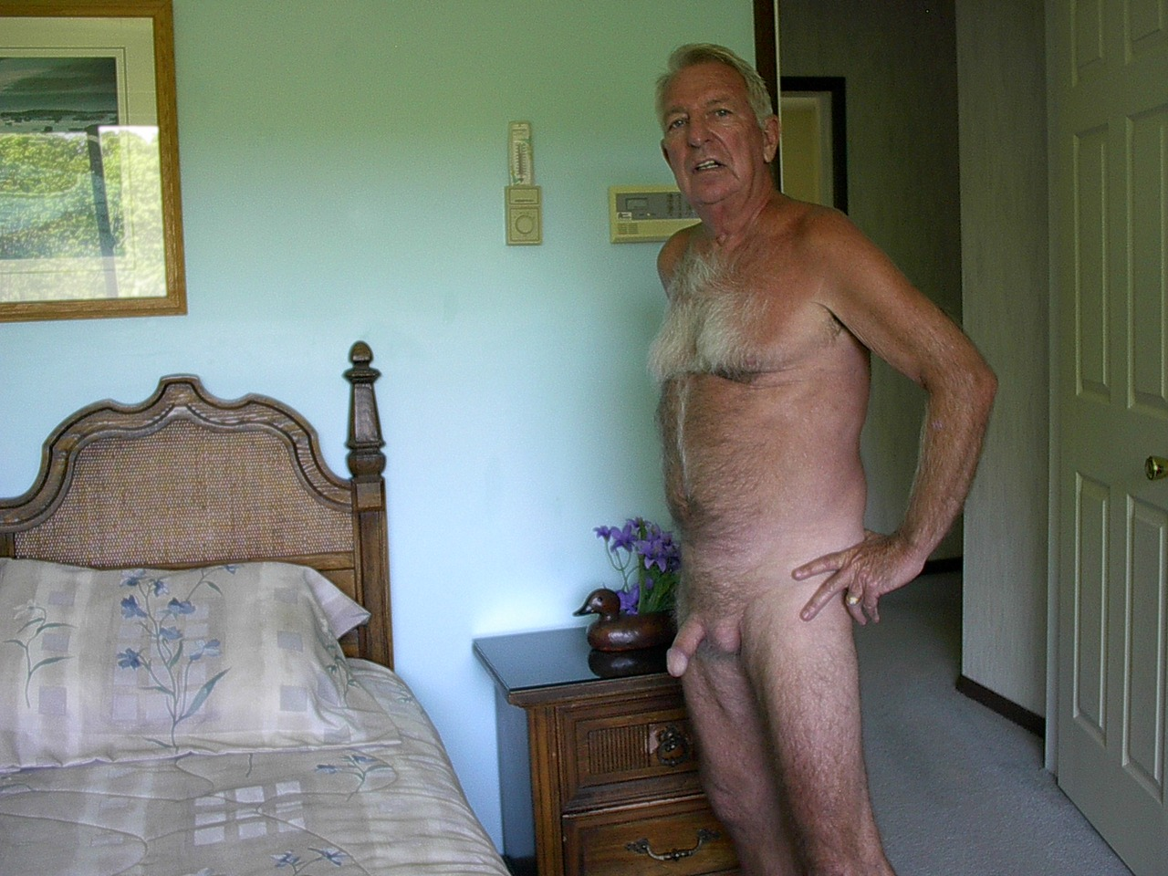 Naked old guys masterdating