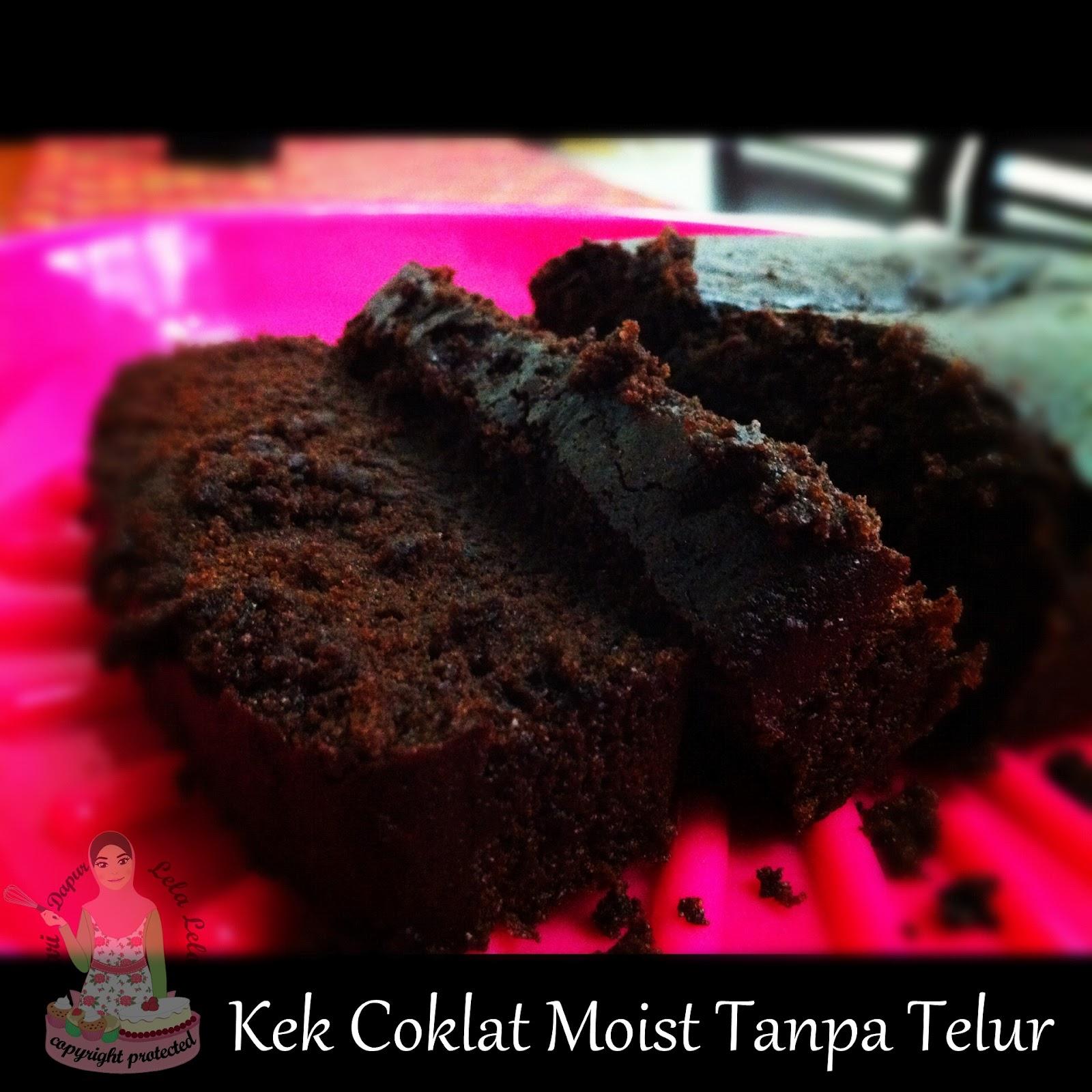 Kek Chocolate Moist Kukus Tanpa Telur
