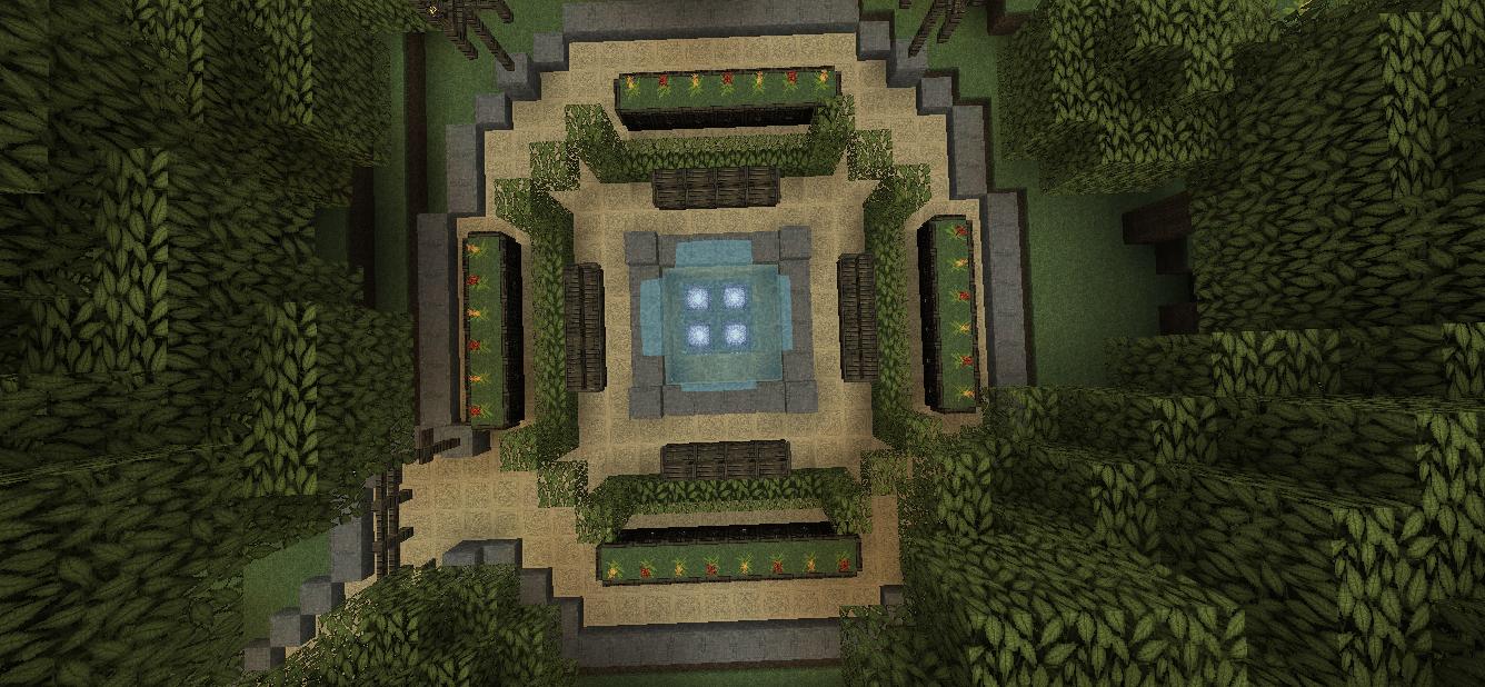 throughout minecraft beautiful garden