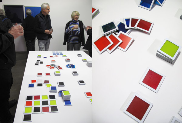 Paul Raguenes at Factory 49, 'Colorific Game table, 2012' wood, steel, glass, plastic car paint.