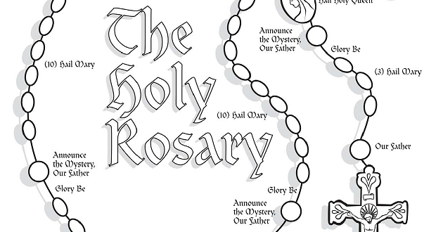 Rosary Coloring Pages - Eskayalitim