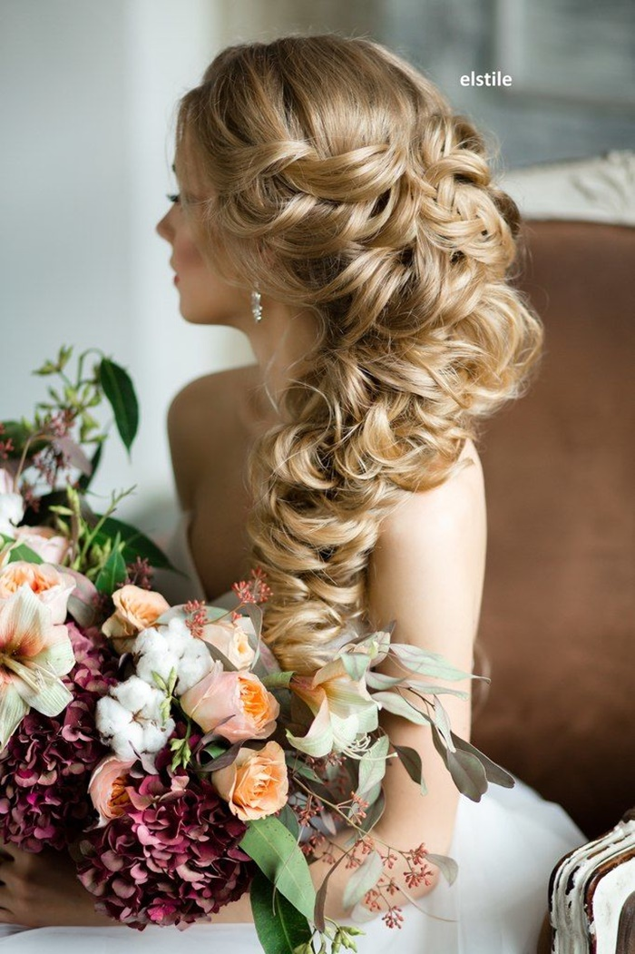 wedding, bridal or prom hairstyles in russian way