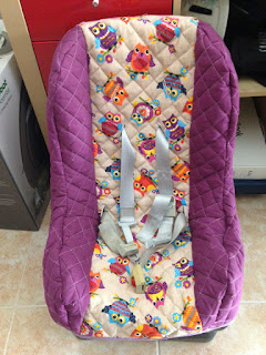 DIY finished baby seat cover