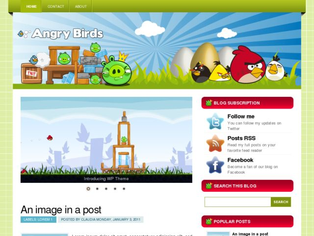 AngryBirds Blogger Template