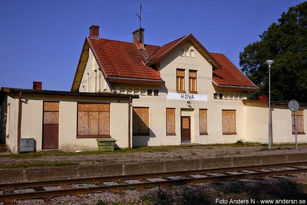 Hova station, järnvägsstation