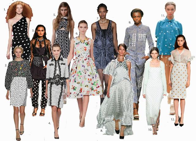 Polka Dot trend, spot trend, monochrome polka dot, Libertine, spring fashion trend, Creatures of Comfort, Oscar De La Renta