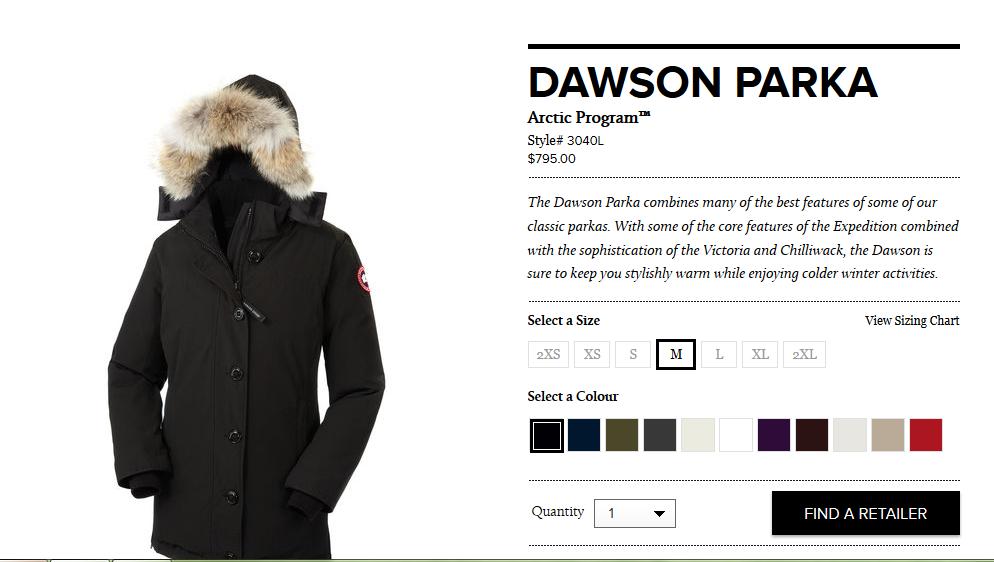 Dawson Parka, Canada Goose