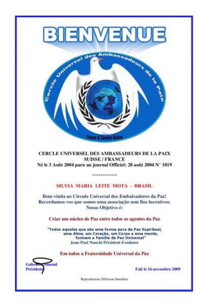 Cercle Universel des Ambassadeurs de La Paix - Suisse/France