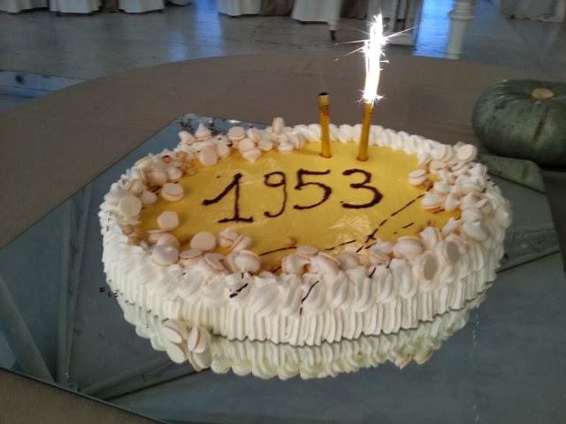 la torta dei sessantanni