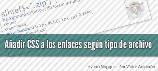 blogger, links css, tipo de archivo
