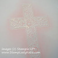 Emboss Resist Technique with an image from Stampin'UP! Stamp Set: Crosses of Hope