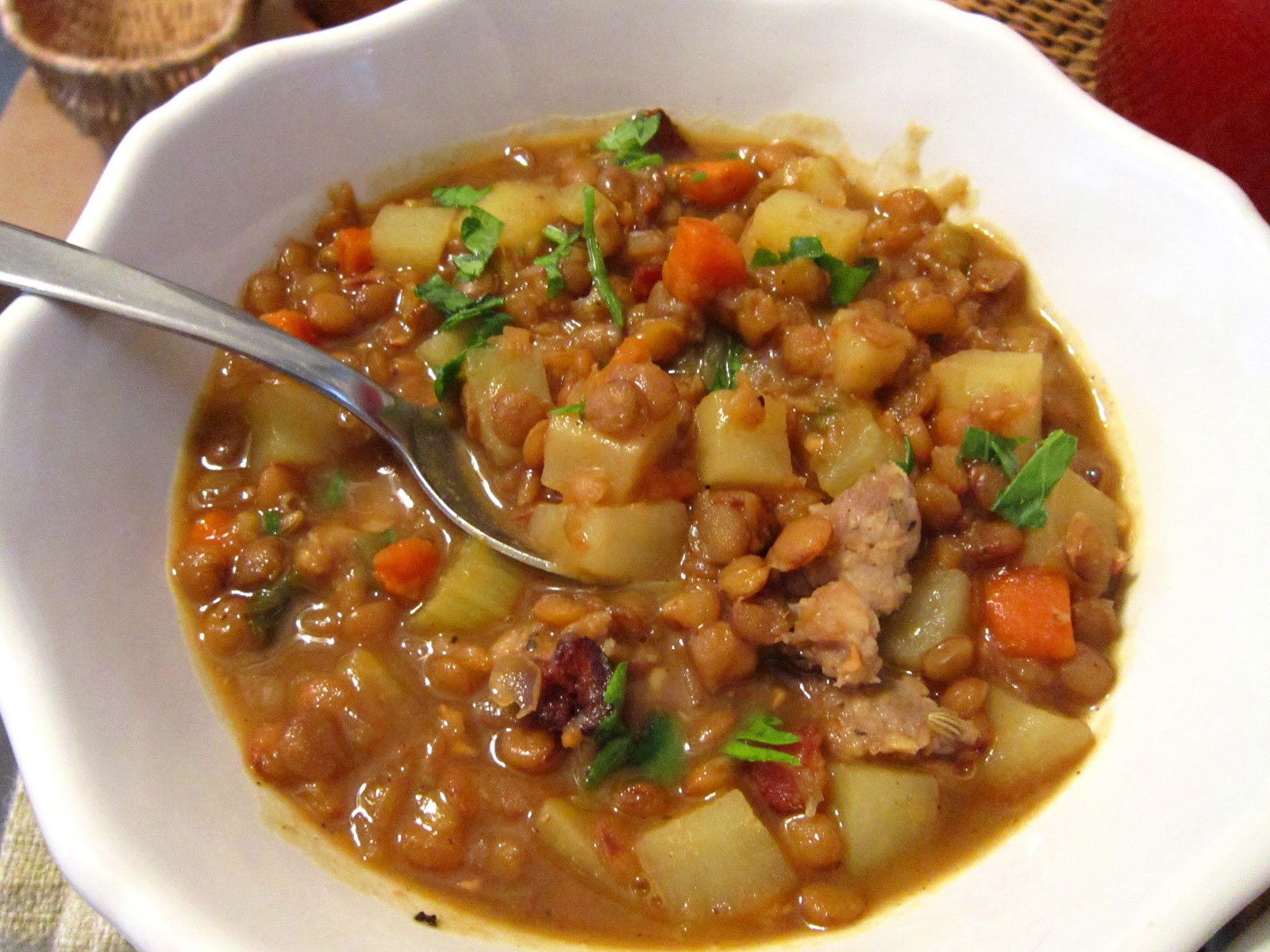 The Italian Next Door: Rustic Lentil Soup