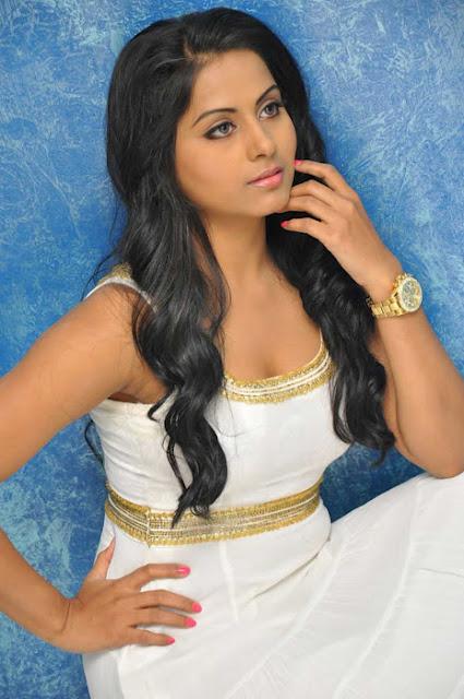 South Indian Actress Rachana Mourya Hot in White Dress Pics