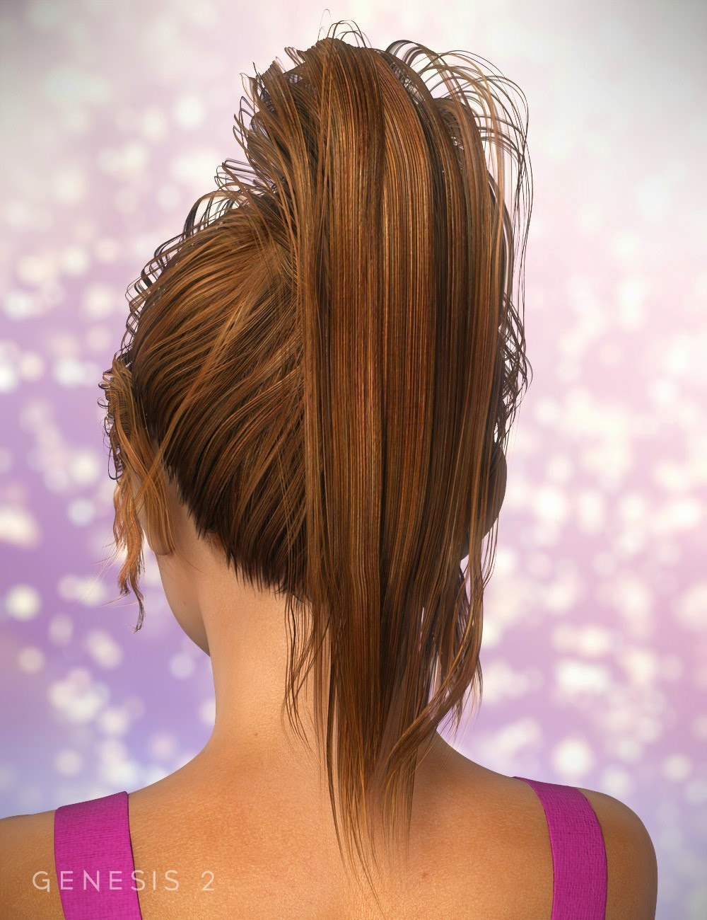 NJA Ponytail Hair for Genesis 2 Female