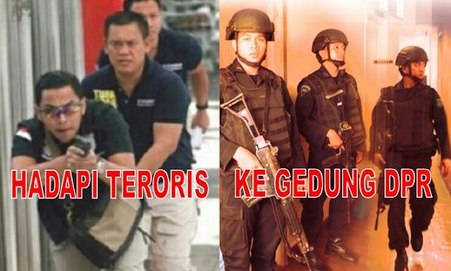 Permainan Apa Ini? Hadapi Teroris Pakai Pakaian Modis, Masuk Gedung DPR Pakai Rompi Anti Peluru