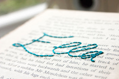 Embroidered book page project from www.madewithlovebykat.co.uk #craft #DIY #embroidery