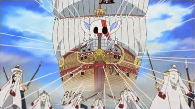 เรือเรด ฟอร์สของกลุ่มโจรสลัดผมแดง @ One Piece
