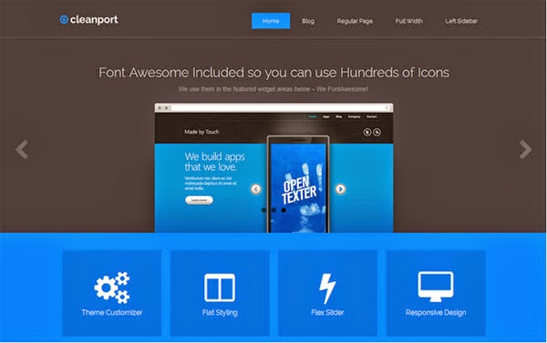 CleanPort-Lite Free Portfolio WordPress Theme