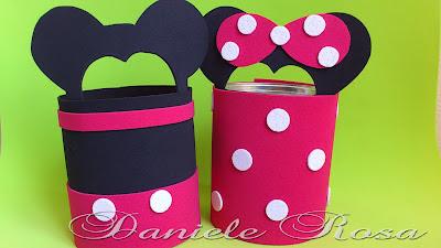 Novas Lembrancinhas Do Mickey E Da Minnie Na Lata De Leite Ninho E