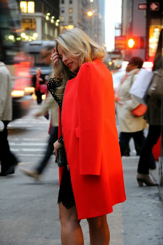 the long red dress I wore in new york city