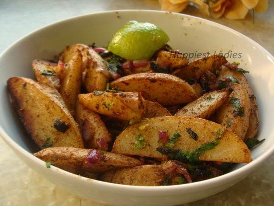 Butter Masala Potato Wedge