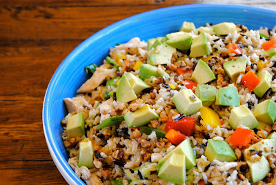 Santa Rosa Chicken Salad with Wild Rice, Avocado and Toasted Pecans ...