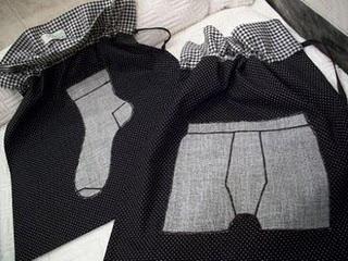 porta-meia e cueca em patchwork