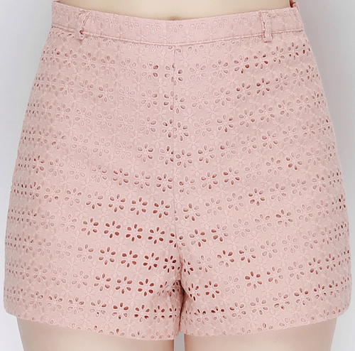 High Waist Crochet Shorts