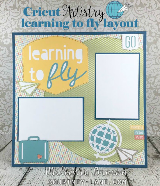 Cricut Artistry Learning to Fly layout