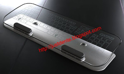Glass Multi-Touch keyboard and mouse