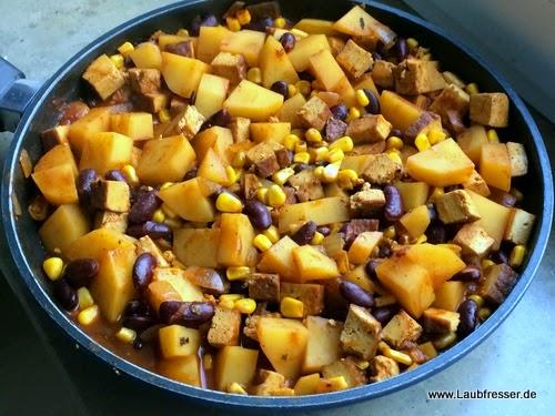 vegane mexikanische Kartoffeln