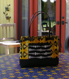 """Bow-Tucks"" Tote in Yellow and Black"