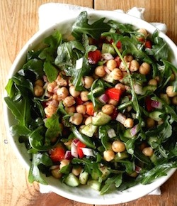 Middle eastern chickpea Salad with sumac spice recipe by seasonwithspice.com