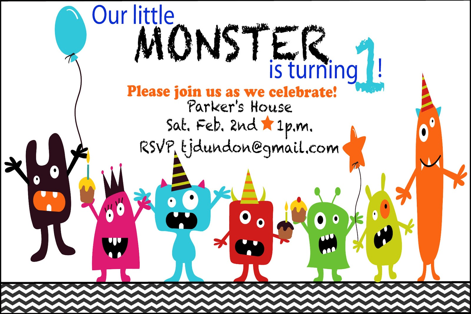 Ontario Mama Parkers Monster Bash Mood Board & Invitation