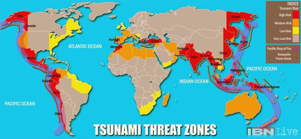 D�nya Tsunami Risk Haritas�