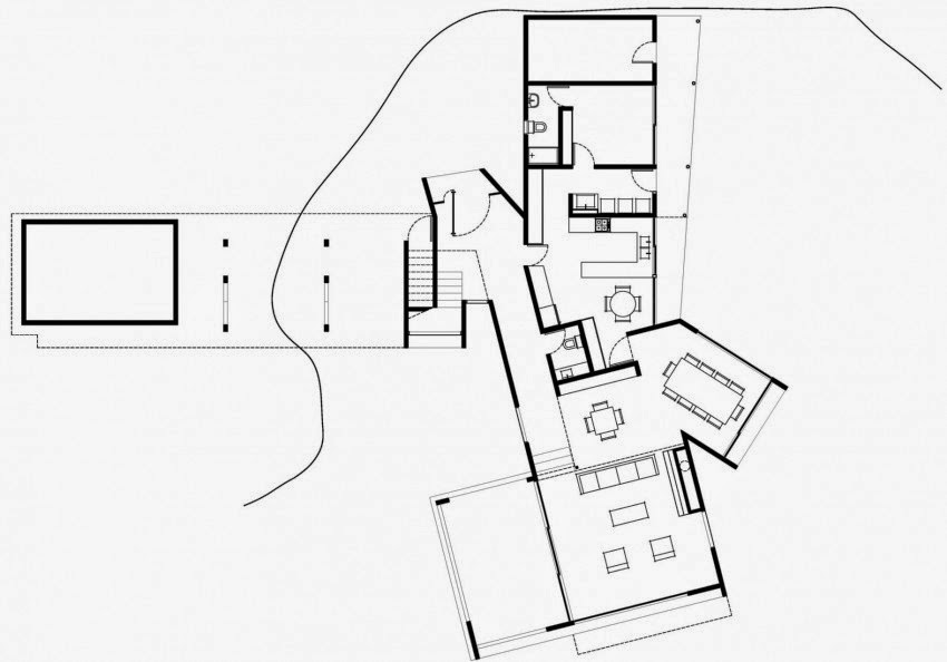 Denah Rumah Minimalis Modern Yang Mewah Karya LAND Arquitectos