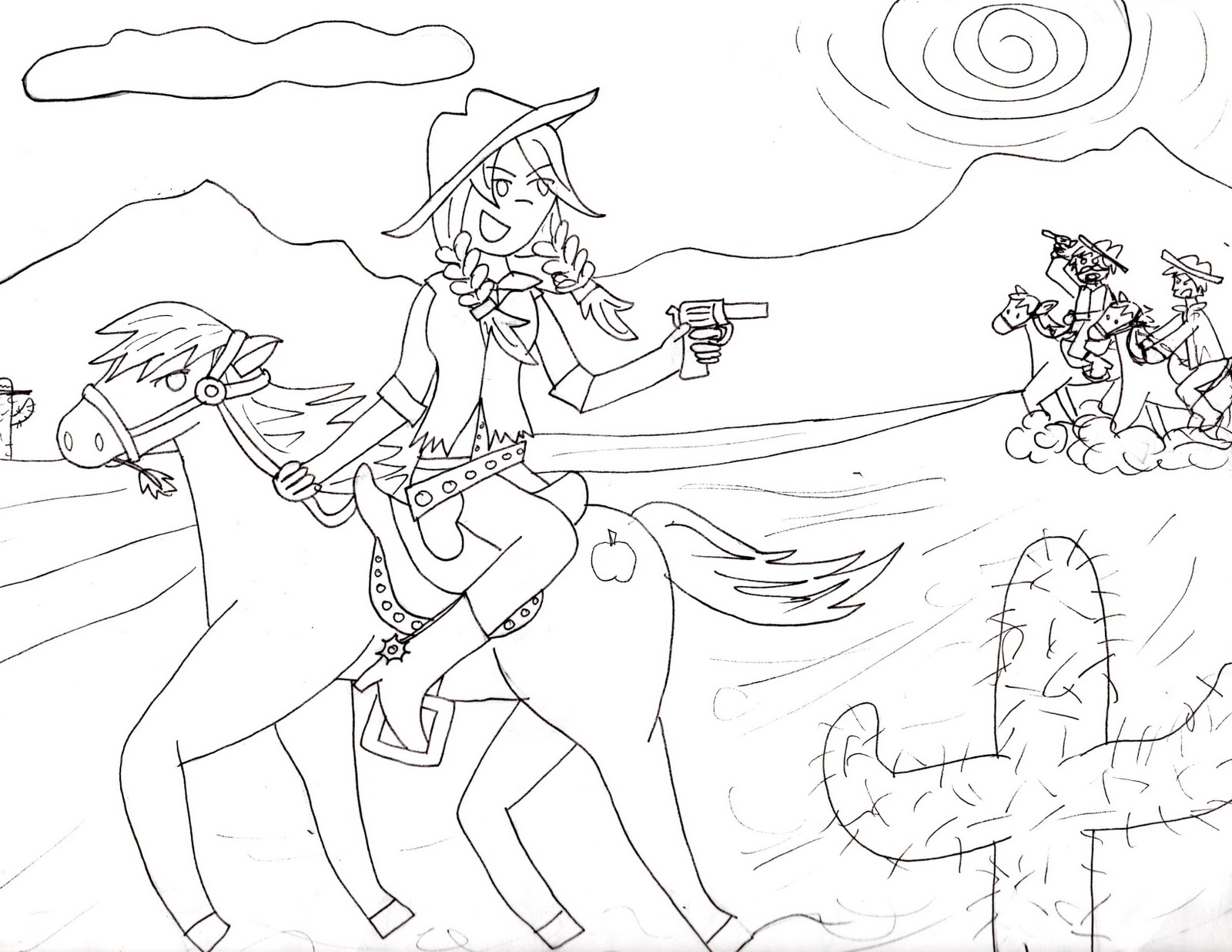 I Like How This One Came Out In My Mind Is A Humanoid Applejack Riding What Was Going To Be Big Macintosh But Probably End Up Being