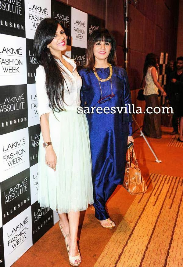 Neeta Lulla and Nishka Lulla At Lakme Fashion Week Press Conference